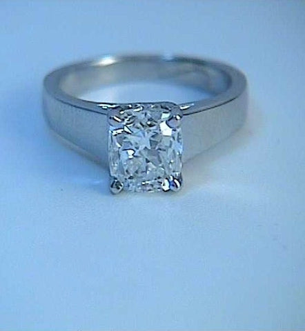 1.58ct Cushion Cut Diamond Engagement Ring GIA certified JEWELFORME BLUE