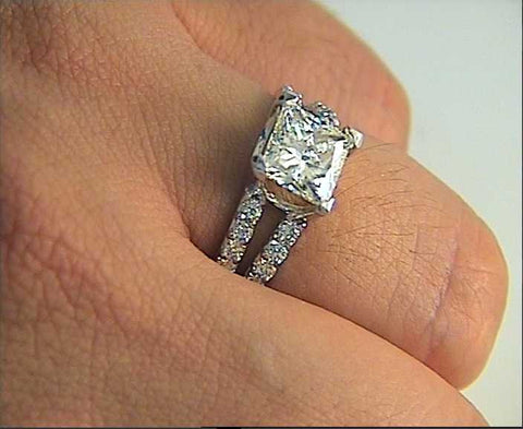 2.22ct G-VS2 GIA Princess Diamond Engagement Ring 18kt JEWELFORME BLUE GIA certified