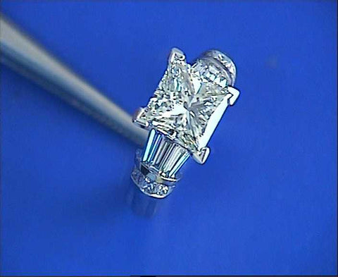 3.31ct Princess Cut Diamond Engagement Ring EGL GIA certified JEWELFORME BLUE