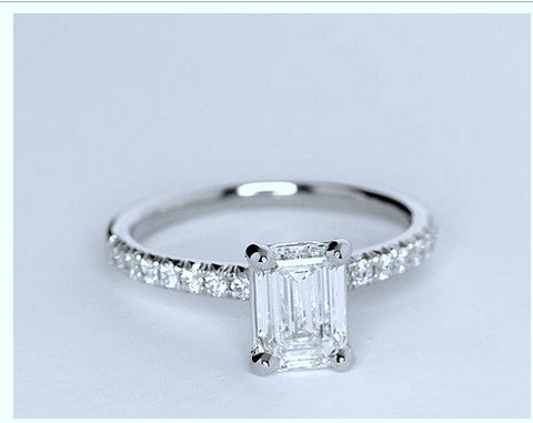 GIA certified 1.76ct Emerald cut diamond Engagement Ring I-VVS2 Platinum JEWELFORME BLUE 900,000 GIA CERTIFIED diamonds