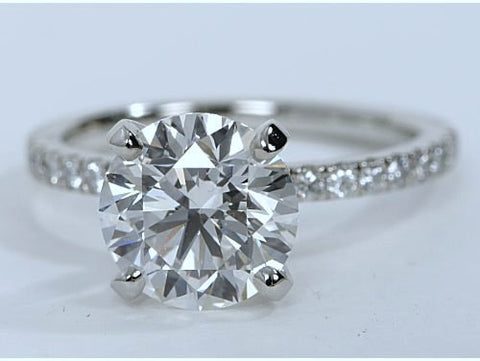 1.32ct G-SI1 Platinum Round Diamond Engagement Ring EGL certified