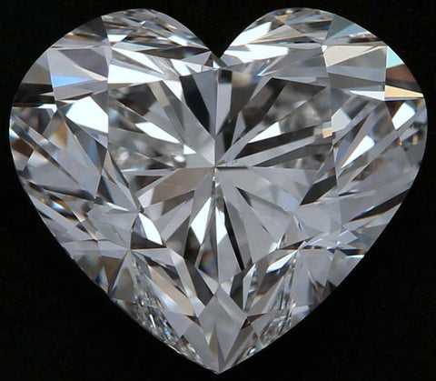 4.02ct F-SI1 Heart shape Loose Diamond  GIA certified Anniversary Engagement JEWELFORME BLUE