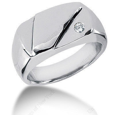 0.10ct Round Diamond Men's Wedding Ring 14kt White Gold Birthday Anniversary Jewelry Gift