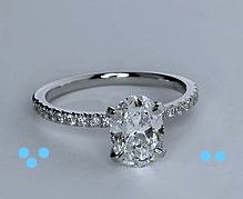 1.25ct H-VS2 Oval Diamond Engagement Ring Fine Jewelry 900,000 GIA certified diamonds JEWELFORME BLUE
