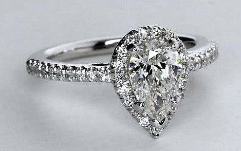 2.52ct Pear Shape Diamond Engagement Ring GIA certified 18kt White Gold JEWELFORME BLUE