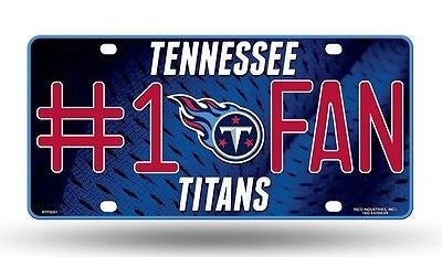 Tennessee Titans #1 Fan Aluminum License Plate NEW!! NFL