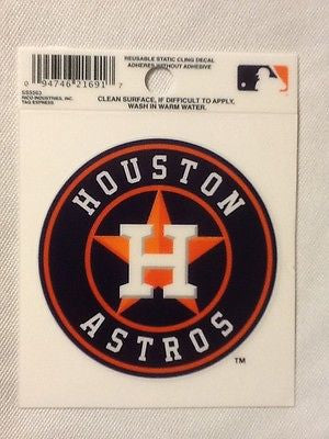 Houston Astros Static Cling Sticker Decal NEW!! Window or Car! New Logo!