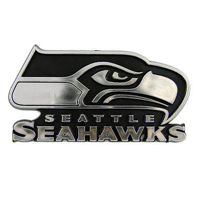 Seattle Seahawks Silver Auto Emblem NEW!