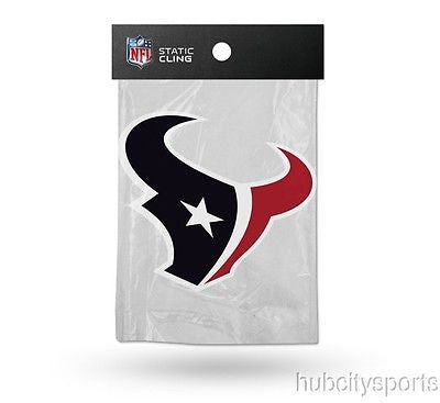 Houston Texans Die Cut Static Cling Decal Reusable 5 X 5 NEW! Car Window