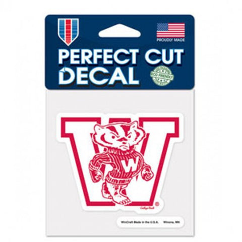 Wisconsin Badgers Retro Logo Die Cut Decal Stickers Perfect Cut 3x3 inches