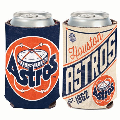Houston Astros Retro Logo Can Koozie Holder Free Shipping! NEW! Collapsible