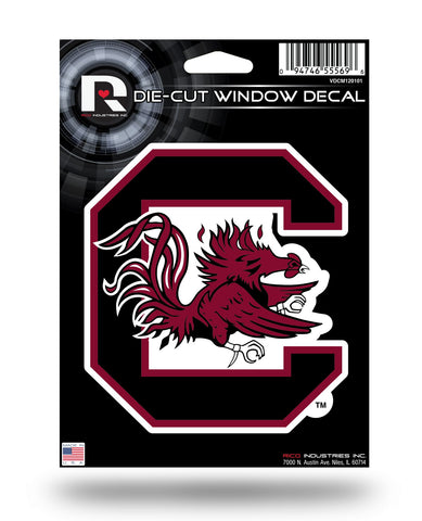 "South Carolina Gamecocks 5"" x 5"" Die-Cut Decal Window, Car or Laptop! NEW!"