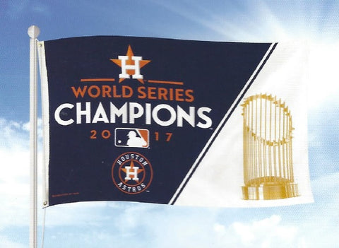 Houston Astros World Series Champions Banner Flag NEW! 3x5 Feet Free Shipping!