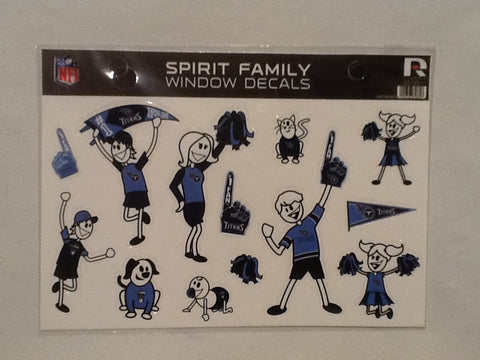 Tennessee Titans Spirit Family Window Decals 8 X 5.5 NEW!! Car Window NFL
