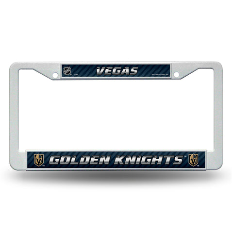 Vegas Golden Knights White Plastic License Plate Frame NHL NEW! Free Shipping