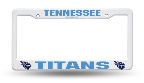 Tennessee Titans White Plastic License Plate Frame NEW Free Shipping!