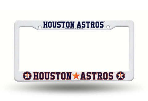 Houston Astros White Plastic License Plate Frame NEW Free Shipping!