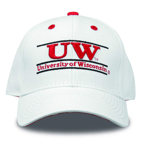Wisconsin Badgers Hat NEW White Adjustable The Game