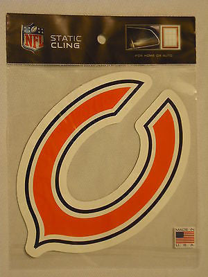 Chicago Bears Die Cut Static Cling Decal Sticker Reusable 4 X 6 NEW Car Window