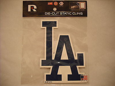Los Angeles Dodgers Die Cut Static Cling Decal Sticker 5 X 4 NEW! Car Window