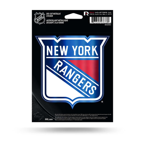 New York Rangers Metallic Die Cut Decal NEW Window Car or Laptop!