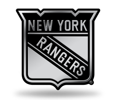 New York Rangers Logo 3D Chrome Auto Emblem NEW!! Truck or Car! Rico NHL