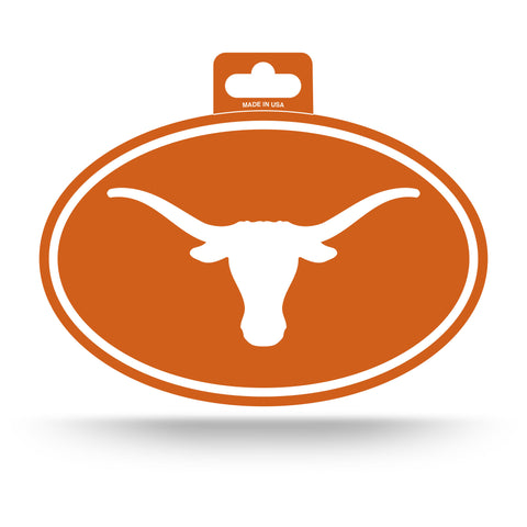 Texas Longhorns Oval Decal Full Color Sticker NEW!! 3 x 5 Inches Free Shipping