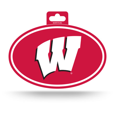 Wisconsin Badgers Oval Decal Full Color Sticker NEW!! 3 x 5 Inches Free Shipping