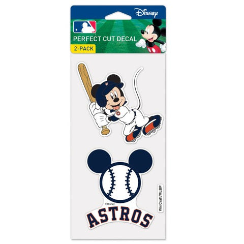 Houston Astros Disney Set of 2 Die Cut Decal Stickers Perfect Cut Free Shipping