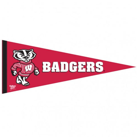 Wisconsin Badgers Premium Pennant Felt Wool NEW!! Free Shipping