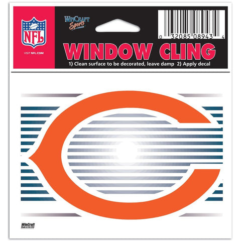 Chicago Bears Logo Static Cling Sticker NEW!! Window or Car! Wincraft