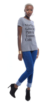 Graphic Tee - Martin, Gina, Pam, Tommy & Cole T-Shirt