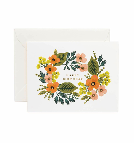 Rifle Paper Co. Happy Birthday Bouquet Card