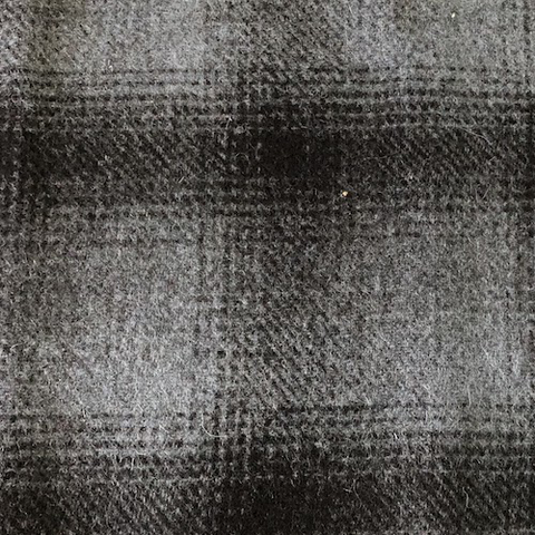 Woolrich Plaid Wool Coating Gray/Black 55""