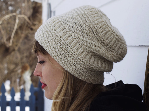 Snoqualmie Hat Knitting Pattern by Drea Renee Knits