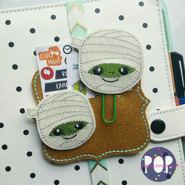 Digital Download- Mummy Planner Clip & Feltie Set - in the hoop machine embroidery