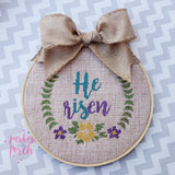 Digital Download- He Is Risen Cross Stitch Fill - in the hoop machine embroidery