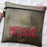 Digital Download- Mother of Dragons Embroidery Fill - in the hoop machine embroidery