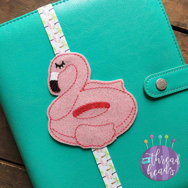 Digital Download- Flamingo Float Planner Band - in the hoop machine embroidery