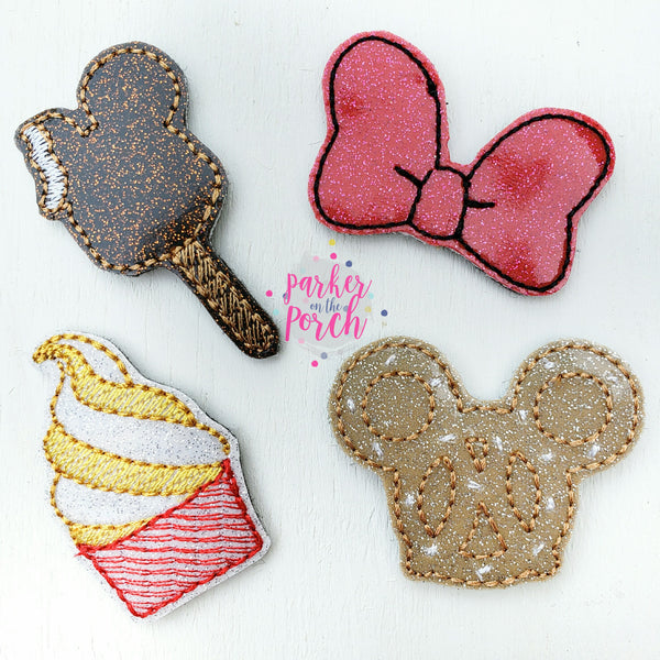 Digital Download- Magical Snacks Feltie Set - in the hoop machine embroidery