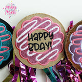 Digital Download- Donut Banner- Happy Birthday Freebie! - in the hoop machine embroidery