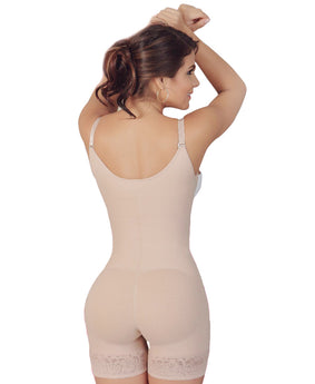 Salome Butt Lifter Thigh Slimmer Braless Bodysuit with Adjustable Straps