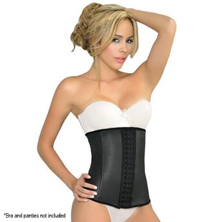 Ursula Latex Waist Trainer Classic, Black
