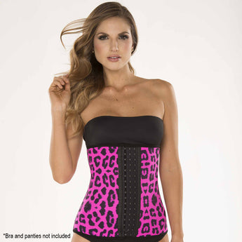 Ursula Waist Trainer Fusioned Latex, Animal Print Fuchsia