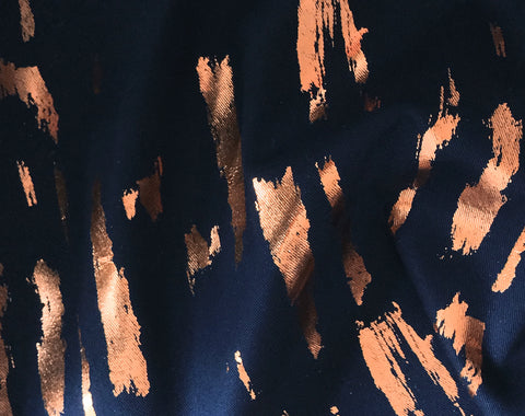 Hand Printed Loxia Copper by Lotte Martens