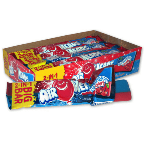 Airheads Big Bar Taffy Candy-Blue Raspberry and Cherry