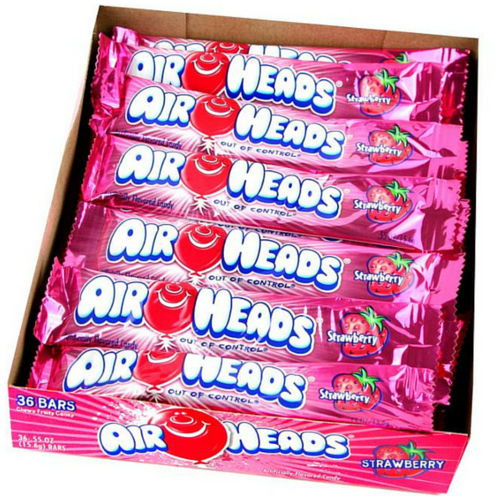 Airheads Candy-Strawberry Taffy Bars-Retro Candies