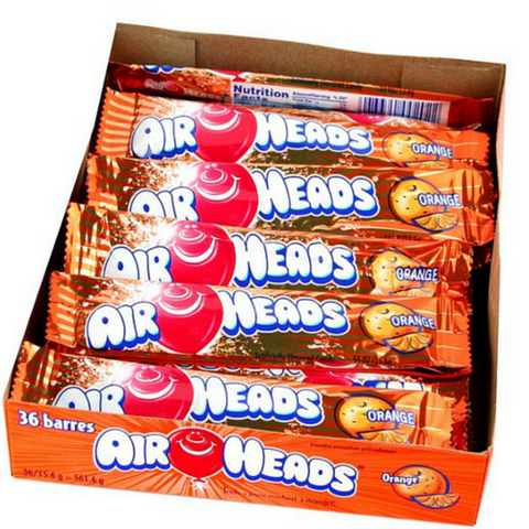 Airheads Taffy Candy Bars - Orange