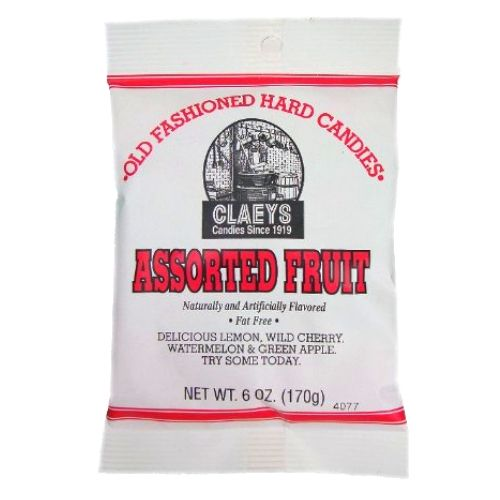 Claeys Assorted Fruit Old Fashioned Hard Candies - 6-oz.