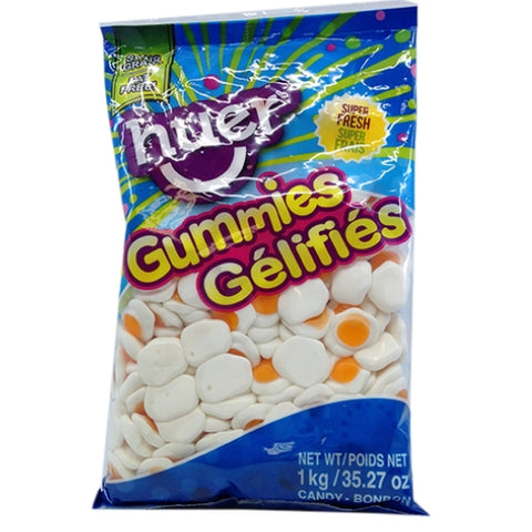 Huer Fried Eggs Peach Flavoured Gummy Candy-1 kg